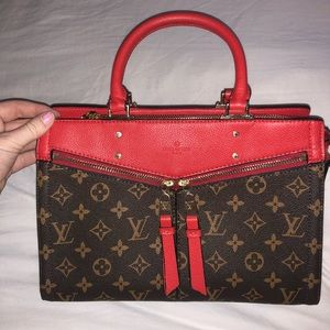 Louis Vuitton red liner purse